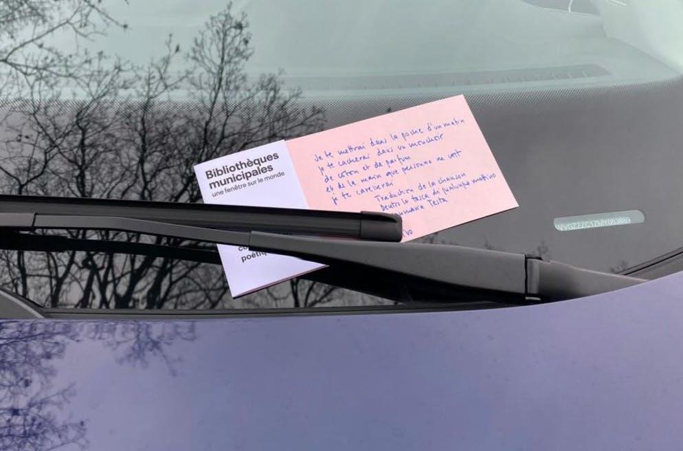 À Genève, une distribution de de contraventions poétiques (Actualitte.com)