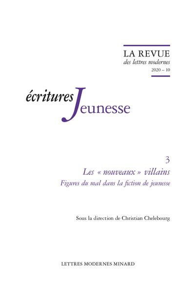 Revue des Lettres modernes, 2020, 10 :