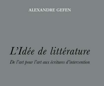 Pour une histoire de l'idée de littérature