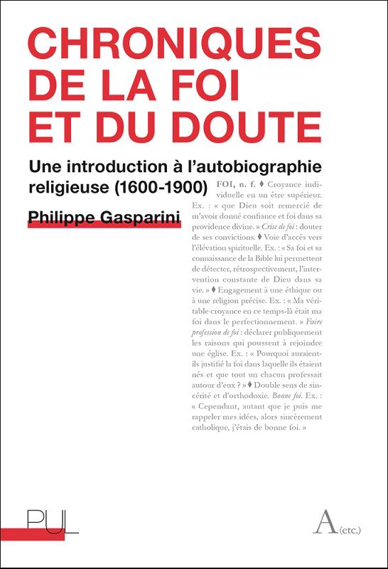 Ph. Gasparini, Chroniques de la foi et du doute