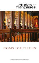 Études françaises, n° 56-3: