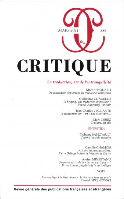 Critique, n° 886 :