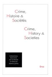 Crime, Histoire et Sociétés, 2020-2