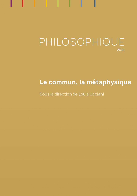 Philosophique, 2021: