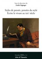 Arts et Savoirs, n° 14 :