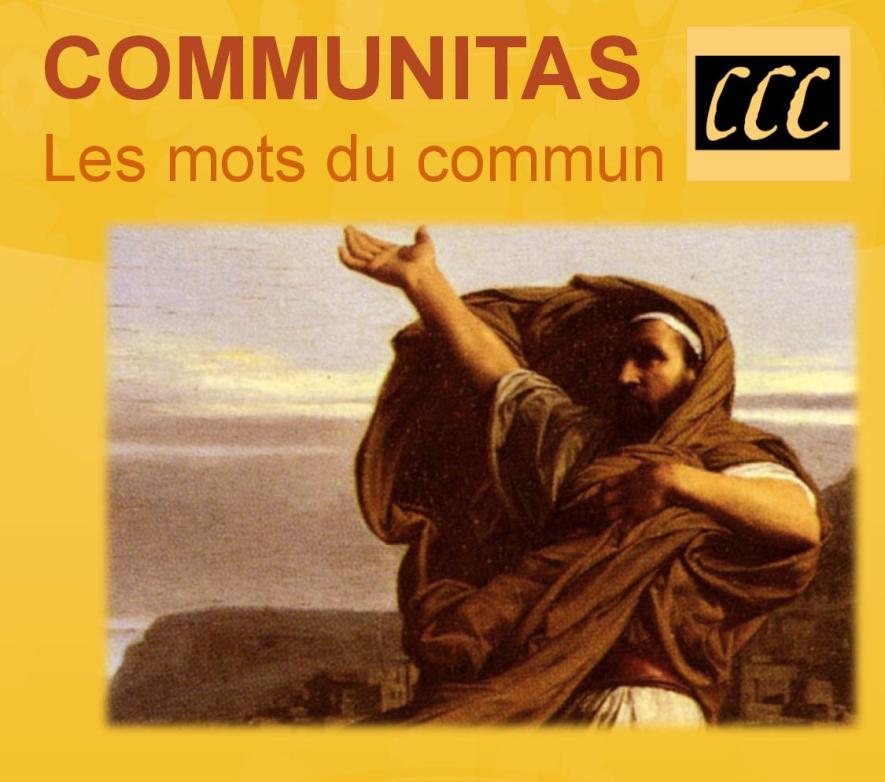 R. Astruc (dir.), COMMUNITAS. Les mots du commun et de la Communauté (préf. J.-L. Nancy, avec une contribution originale d'A. Volodine)