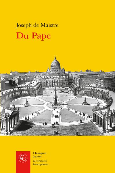 J. de Maistre. Du Pape