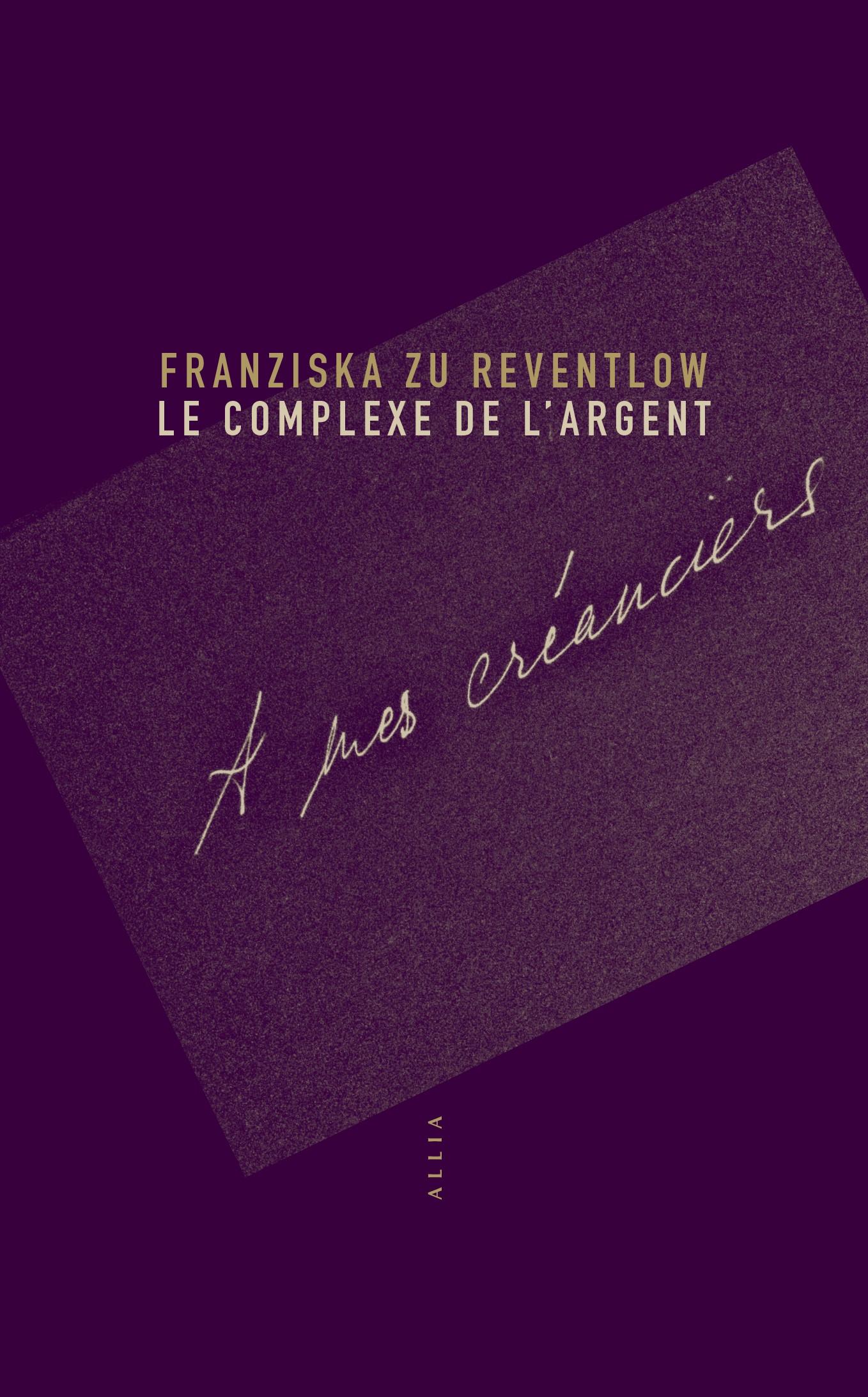 F. zu Reventlow, Le Complexe de l'argent