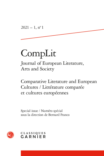 CompLit. Journal of European Literature, Arts and Society, 2021 – 1, n° 1
