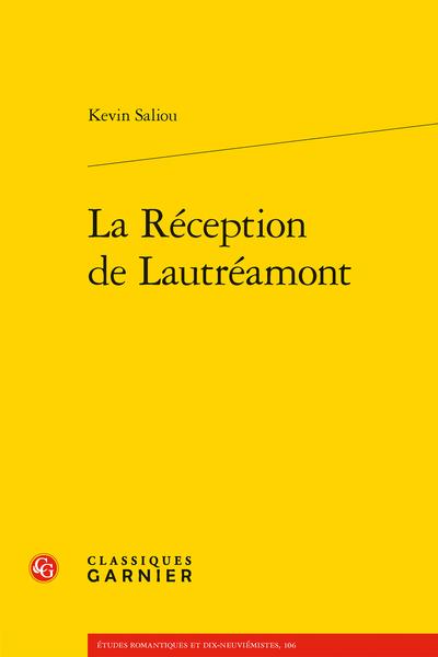 K. Saliou, La Réception de Lautréamont