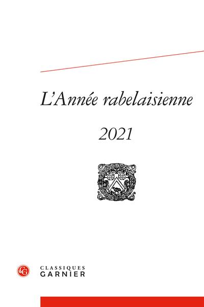 L'Année rabelaisienne, n° 5: Varia