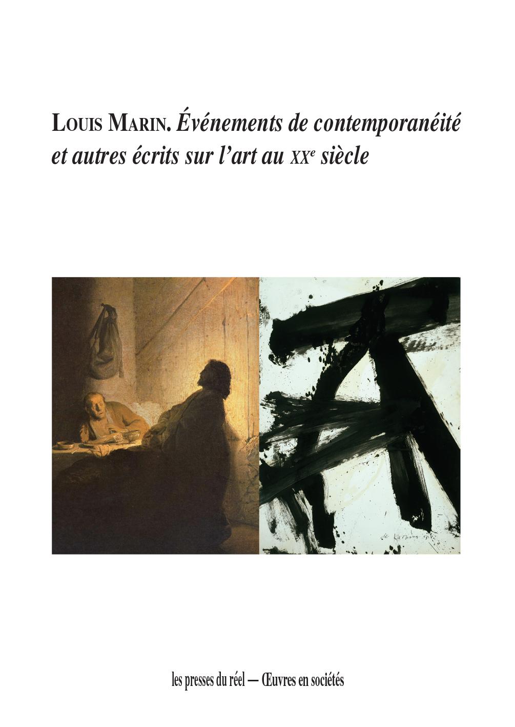 L. Marin, Événements de contemporanéité et autres écrits sur l'art au XXe siècle