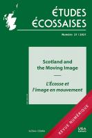 Études écossaises, n° 21-2021 :