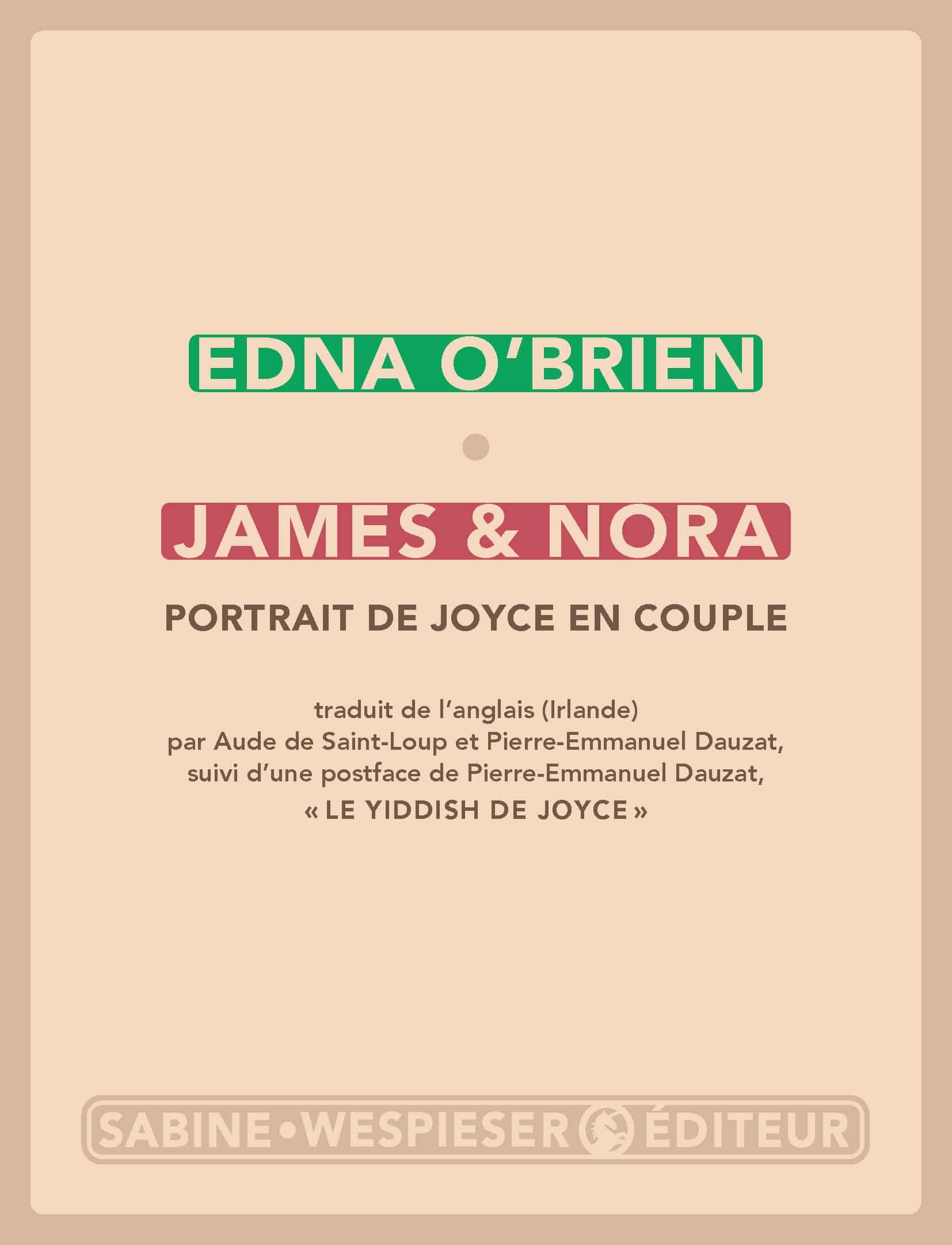 E. O'Brien, James et Nora