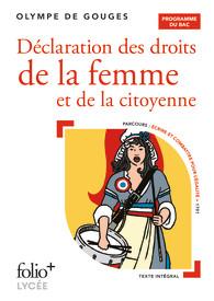 O. De Gouges, Déclaration des droits de la femme et de la citoyenne (éd. Bac 2022)