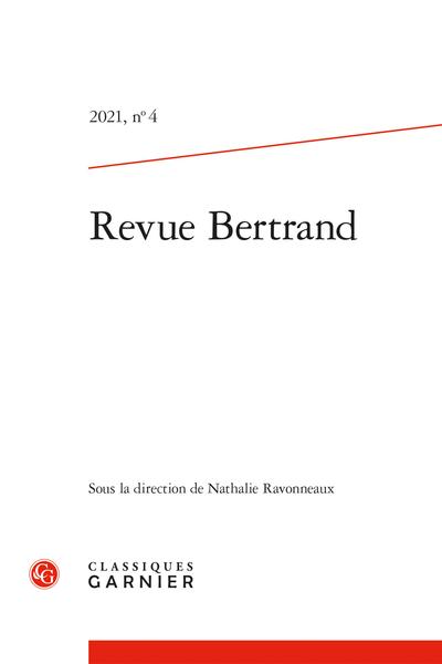 Revue Bertrand, n° 4: Varia