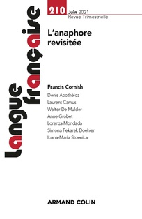 Langue française, n° 210: