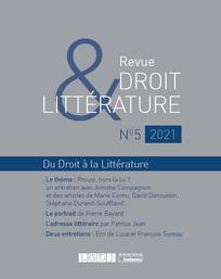 Droit & Littérature, n° 5 :