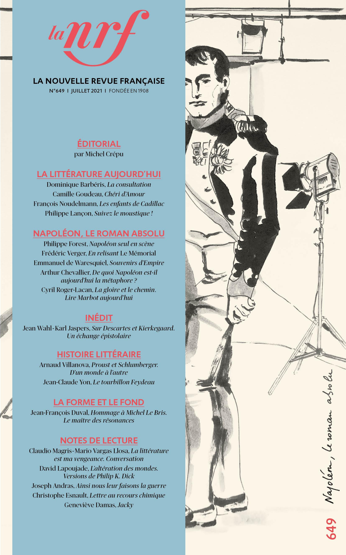 La Nouvelle Revue Française, n° 649, Juillet 2021