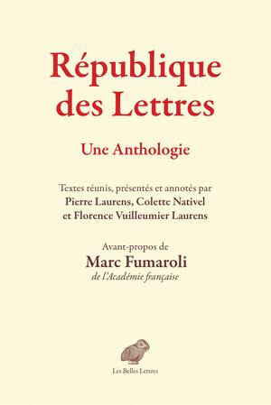 République des lettres. Une anthologie