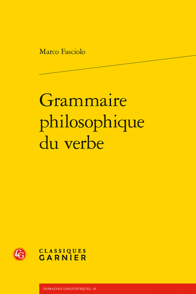 M. Fasciolo, Grammaire philosophique du verbe
