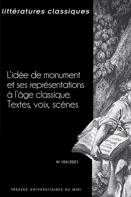 Littératures classiques, n° 104 :