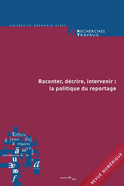 Recherches & travaux, n°98 / 2021 :