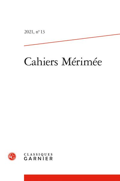 Cahiers Mérimée 2021, n° 13: