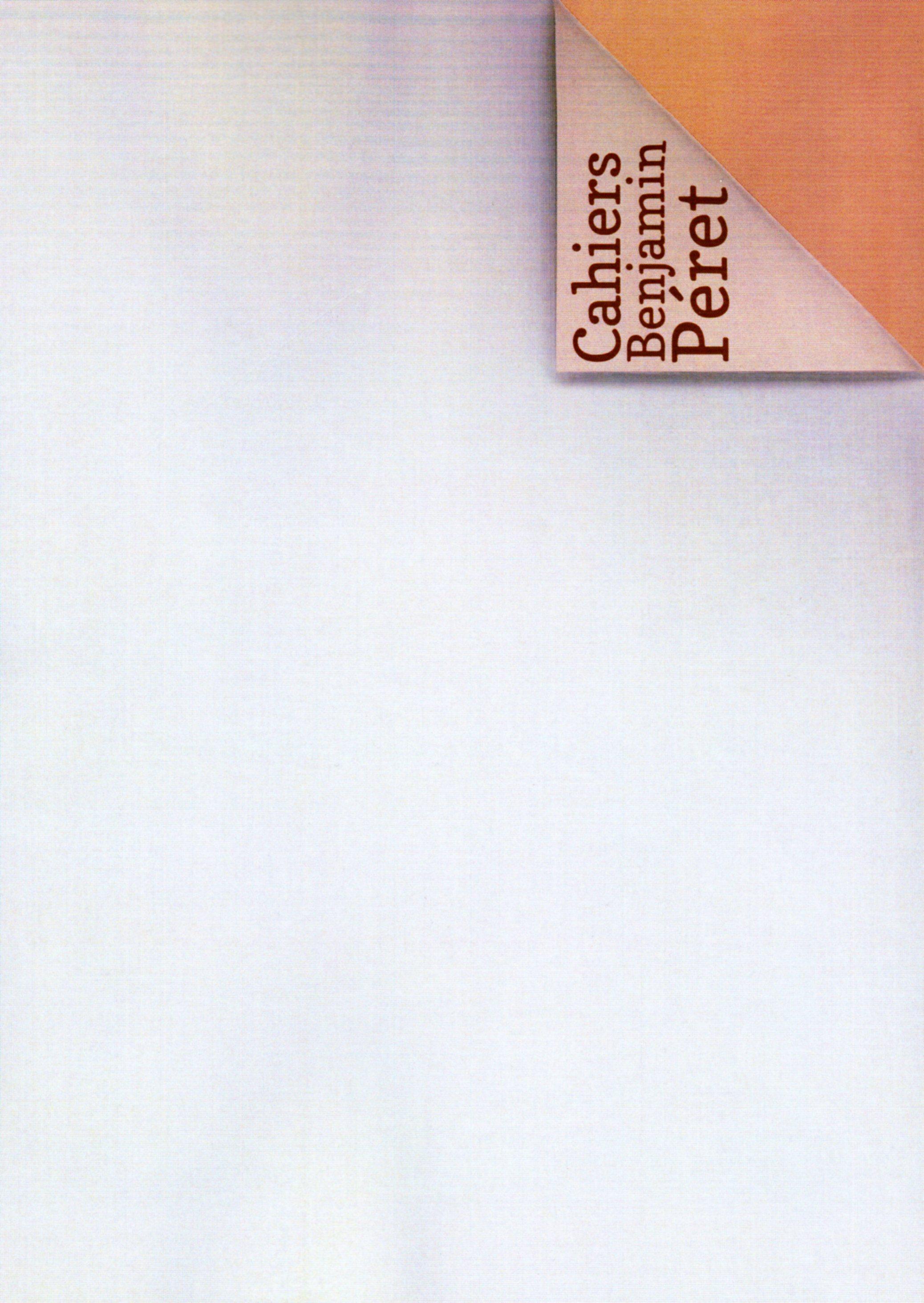 Cahiers Benjamin Péret, n° 9, sept. 2020
