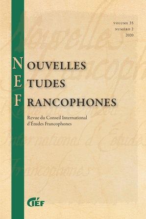 Nouvelles Études Francophones, vol 35, n° 2 :