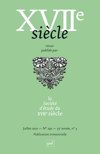 Dix-septième Siècle, n° 292, 2021/3: