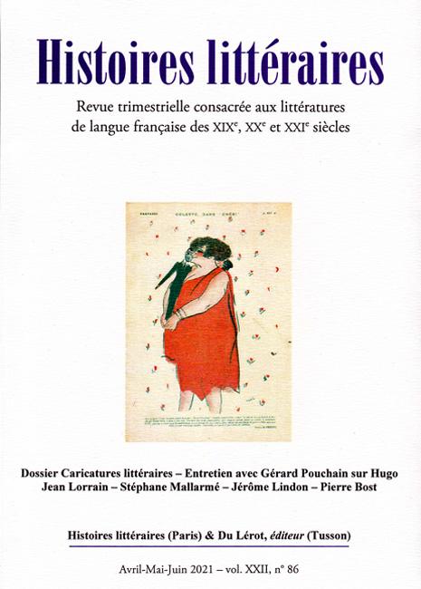 Histoires littéraires n° 86 :
