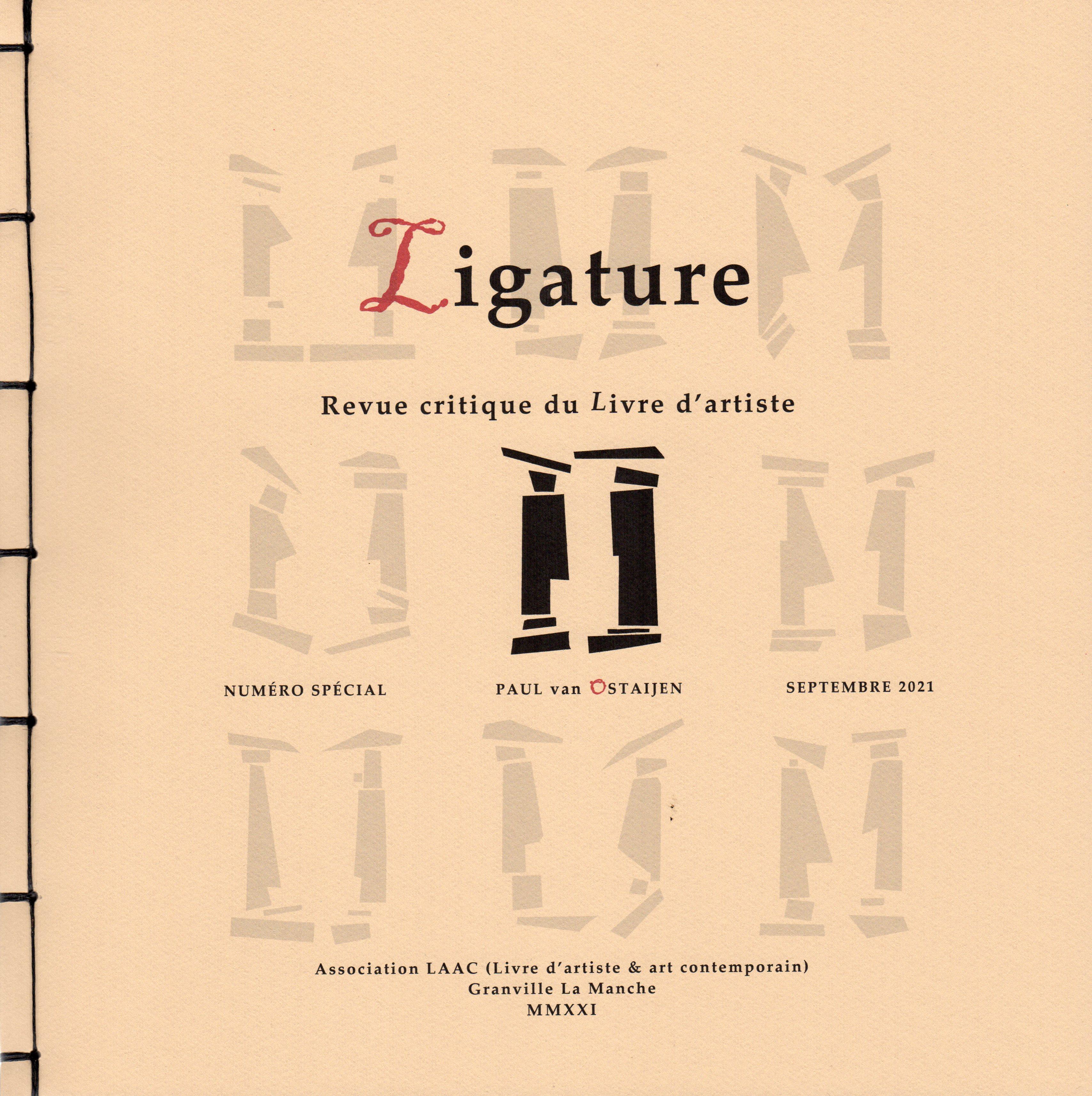 Ligature, revue critique du livre d'artiste, n° spécial 2021