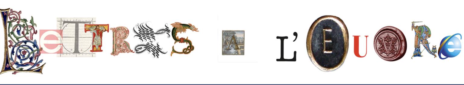 Lettres à l'œuvre. Pratiques lettristes dans la poésie en français, de l'Extrême Contemporain au Moyen Âge (Fribourg, Suisse)