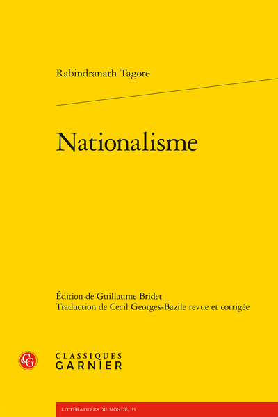 Rabindranath Tagore, Nationalisme, Guillaume Bridet (éd.)