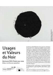 Usages et valeurs du noir