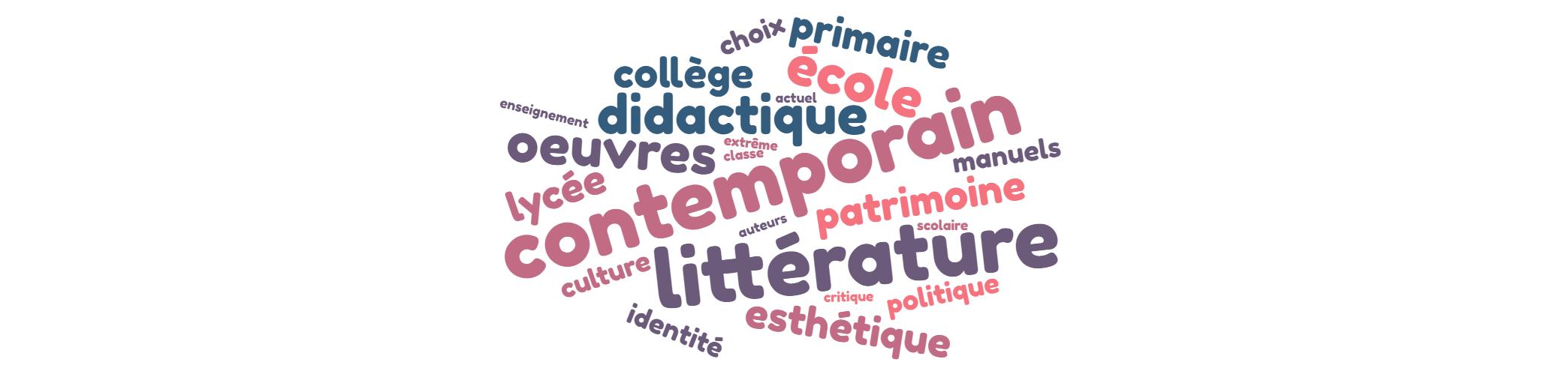 Ce que l'école fait à/de la littérature contemporaine