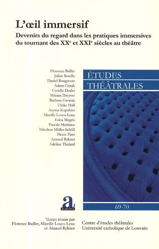 Etudes théâtrales, n°69-70 :