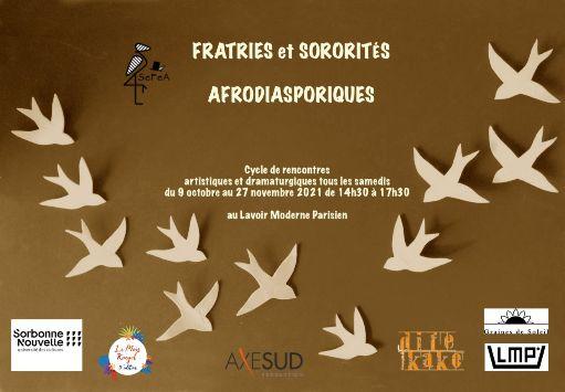 Fratries & sororités afrodiasporiques : Penser, analyser & conceptualiser la création afropéenne