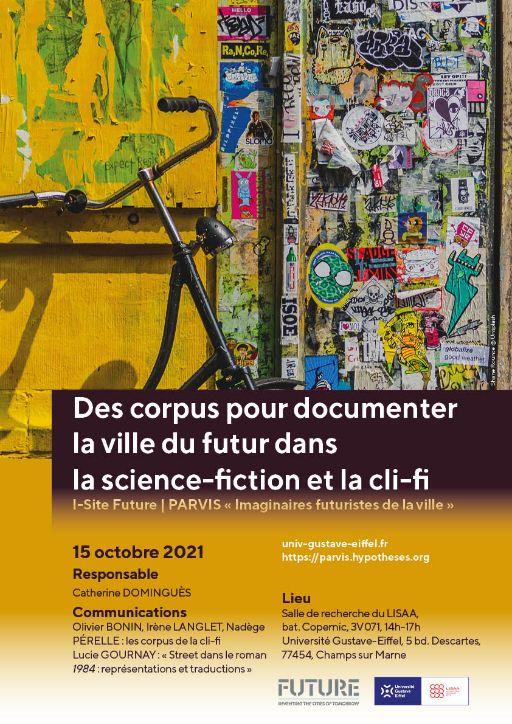 Des corpus pour documenter la ville du futur dans la science-fiction et la cli-fi