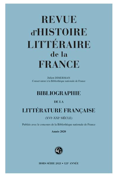 Bibliographie de la littérature française 2021, Année 2020 varia