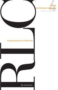Revue de littérature comparée 2020/4 (n° 376),