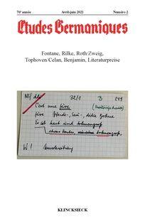Études Germaniques 2021/2 (n° 302),