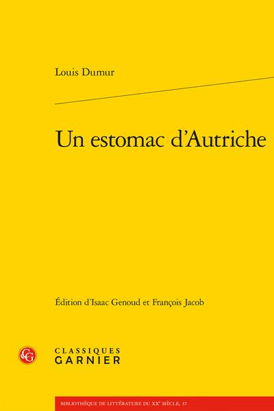 Louis Dumur, Un estomac d'Autriche (éd. I. Genoud & F. Jacob)