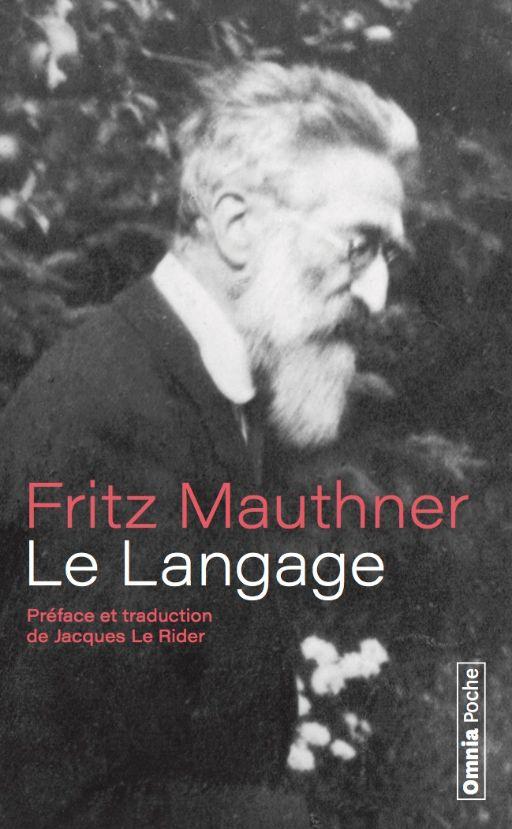 Fritz Mauthner, Le Langage