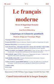 Le Français moderne, 2020-2 :