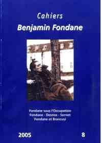 Cahiers Benjamin Fondane, no 8