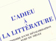 La fin de l'idée de littérature