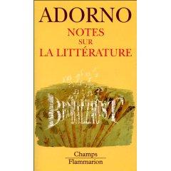 T. W. Adorno, Notes sur la littérature (poche)