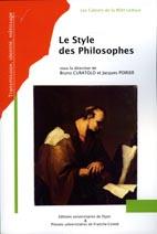 Bruno Curatolo et Jacques Poirier,  Le Style des Philosophes.